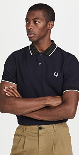 Fred Perry - Striped Collar Polo Shirt