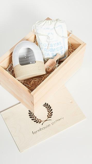 Farmhouse Pottery Salt & Cellar Gift Set