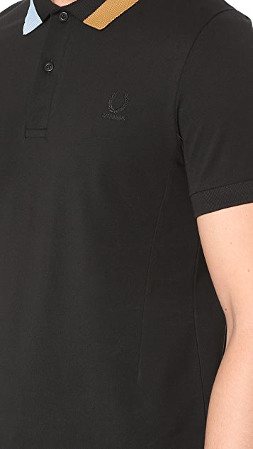 Fred Perry by Raf Simons Block Tipped Pique Polo