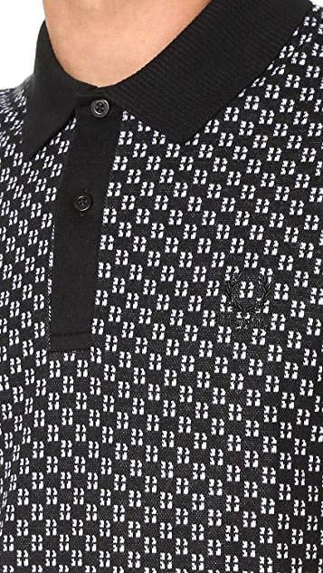 Fred Perry by Raf Simons Square Jacquard Pique Polo