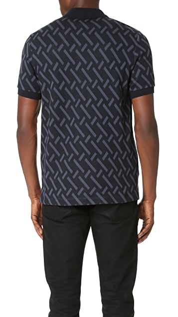 Fred Perry by Raf Simons Abstract Jacquard Pique Polo