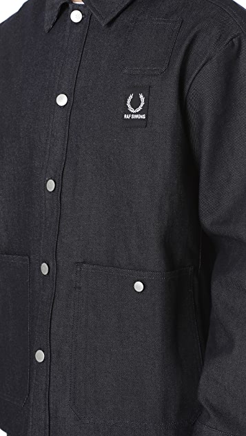 ccf65bfe13 ... Fred Perry by Raf Simons Denim Shirt Jacket