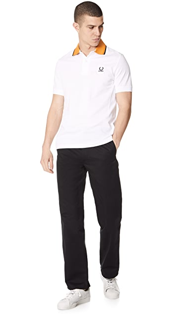 Fred Perry by Raf Simons Contrast Collar Pique Shirt