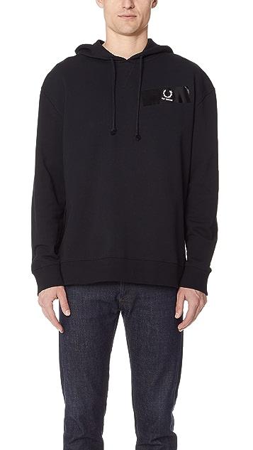 06c45b582 Fred Perry by Raf Simons Tape Detail Hooded Sweatshirt