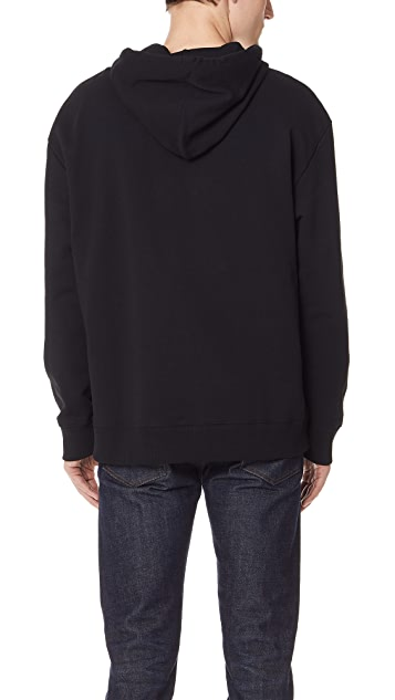 Fred Perry by Raf Simons Tape Detail Hooded Sweatshirt