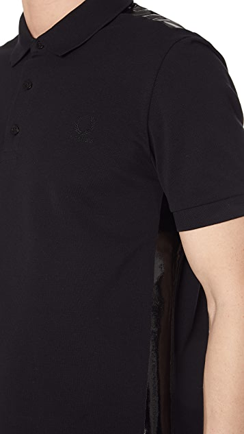 Fred Perry by Raf Simons Tape Detail Pique Shirt