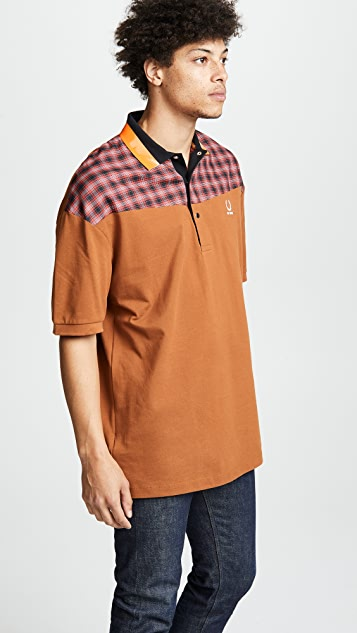 Fred Perry by Raf Simons Oversized Pique Shirt