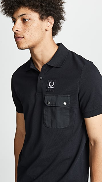 Fred Perry by Raf Simons Pocket Detail Pique Shirt