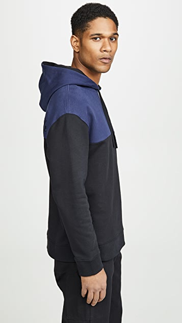 Fred Perry by Raf Simons Embroidered Initial Hooded Sweatshirt
