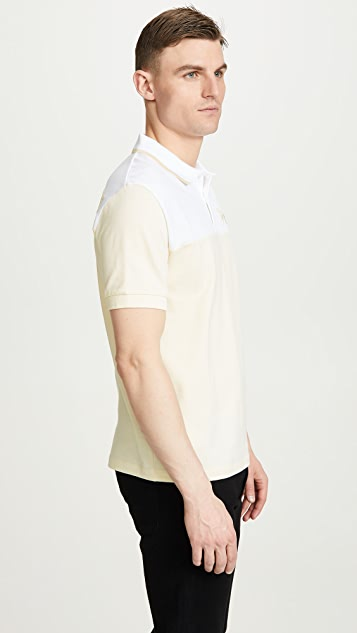 Fred Perry by Raf Simons Embroidered Initial Pique Shirt