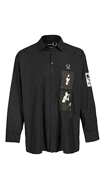 Fred Perry by Raf Simons Raf Patched Oversized Shirt