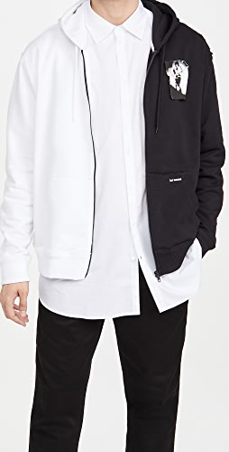 Fred Perry by Raf Simons - Patched Zip Through Split Hoody