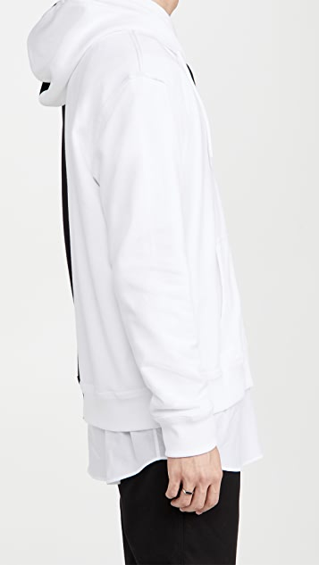 Fred Perry by Raf Simons Patched Zip Through Split Hoody