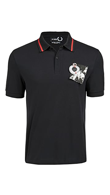 Fred Perry by Raf Simons Chest Patch Tipped Polo Shirt