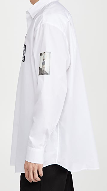 Fred Perry by Raf Simons Oversized Patched Shirt