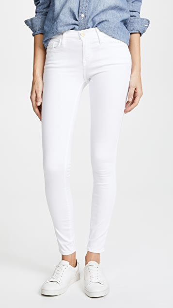 FRAME Le Color Cropped Skinny Jeans ...