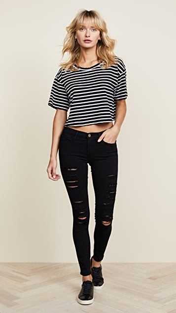 9867b2b28441 ... FRAME Le Color Rip Skinny Jeans ...
