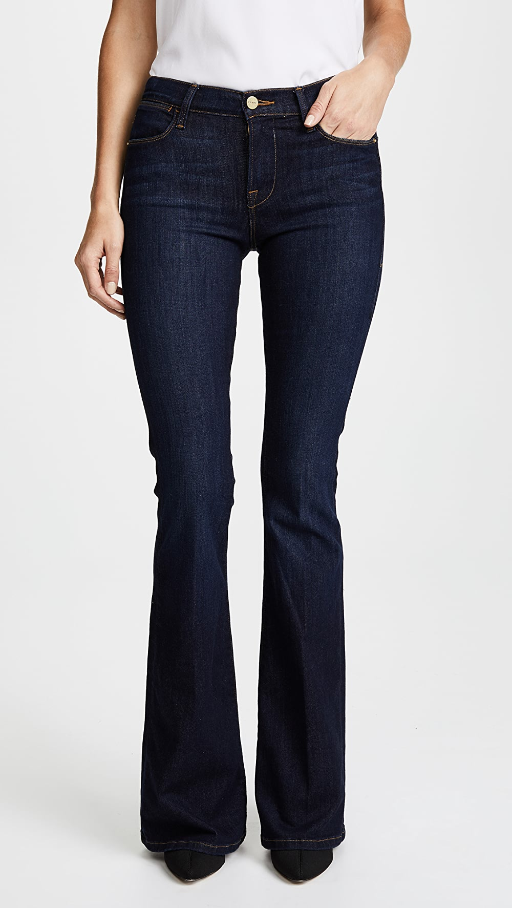 NWT FRAME Le High Flare Skinny Flared Fit Color Sutherland Size 24