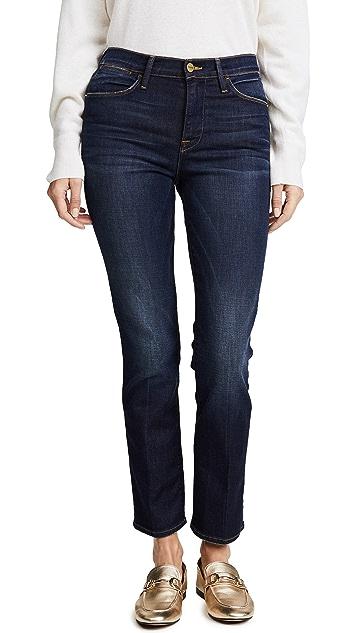 Le High Cropped Straight-leg Jeans - Mid denim Frame Denim Qn7fWW