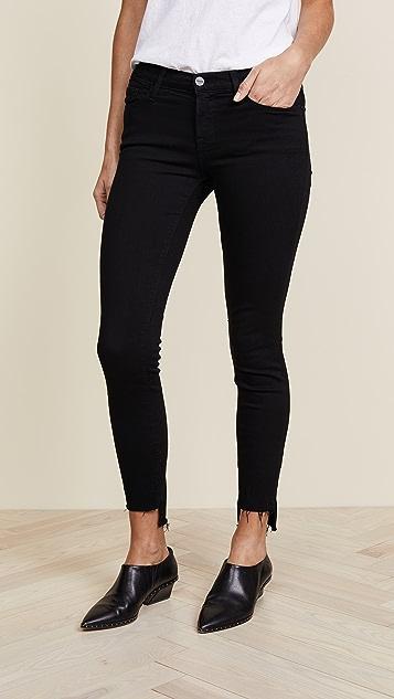 3167e9681264 FRAME Le Skinny de Jeanne Stagger Hem Jeans ...