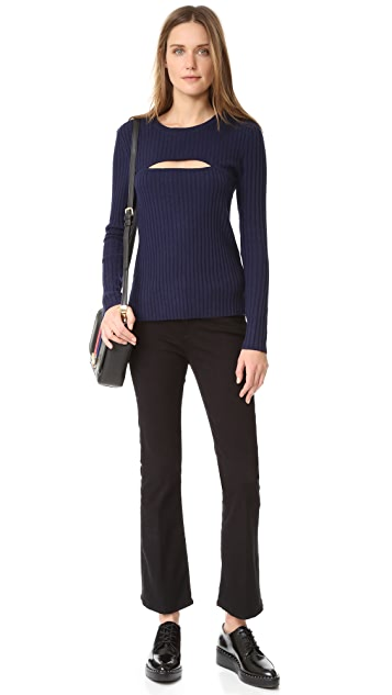 FRAME Overlap Rib Sweater
