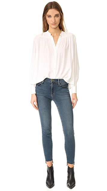 FRAME Le High Skinny Raw Stagger Jeans