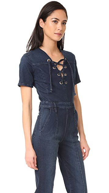 FRAME Le Lace Up Jumpsuit
