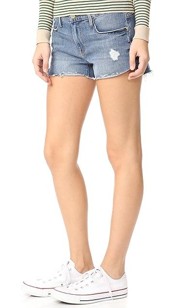 FRAME Le Cutoff Tulip Shorts