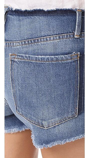 FRAME Le Cutoff Cuff Frayed Waist Shorts