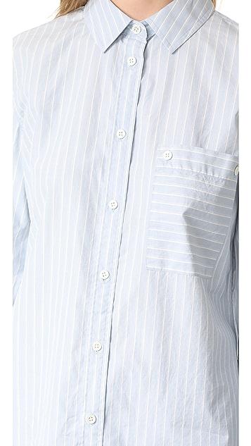 FRAME Boyfriend Poplin Shirt