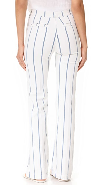 FRAME High Flare Side Zip Pants