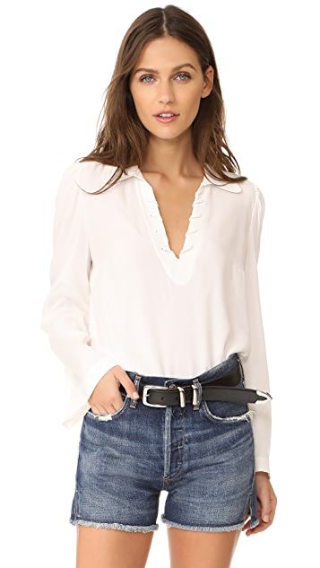 FRAME Whip Stitch Blouse