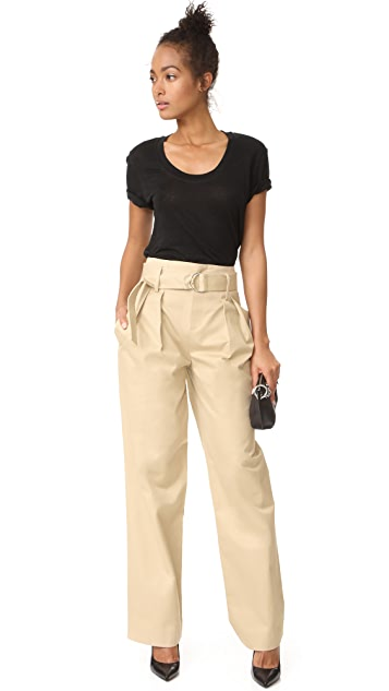 FRAME High Waist Oversized Pants
