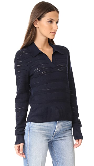 FRAME O Stitch Polo Sweater