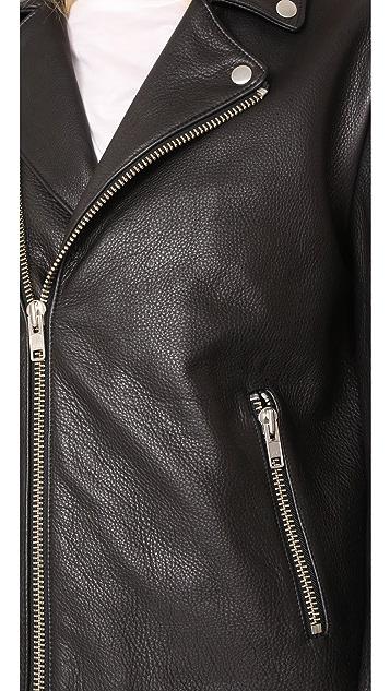 FRAME Oversized Moto Jacket