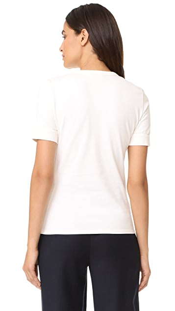 FRAME Fitted Ringer Crew T-Shirt