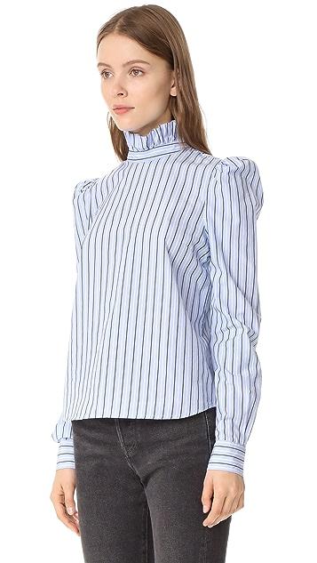 FRAME Ruffle Neck Shirt