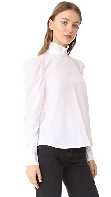 FRAME Ruffle Neck Shirt