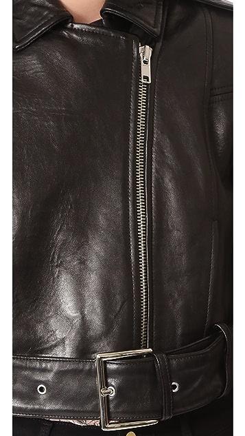 FRAME Crop Moto Jacket