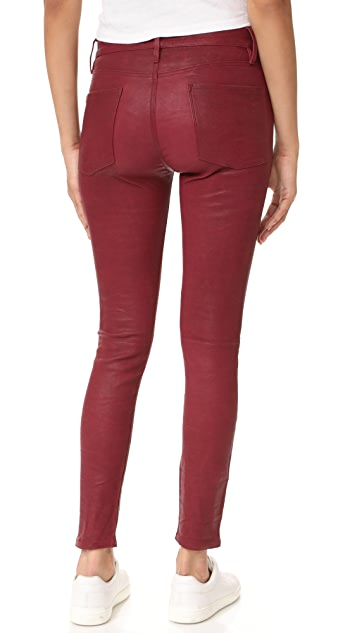 FRAME Le Skinny Leather Pants