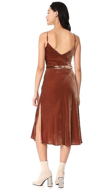 frame velvet slip dress frame velvet slip dress - Dress Frame