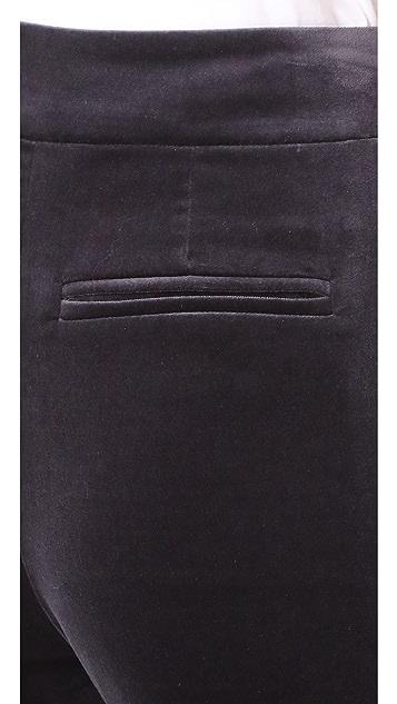 FRAME Velvet Wide Leg Pants