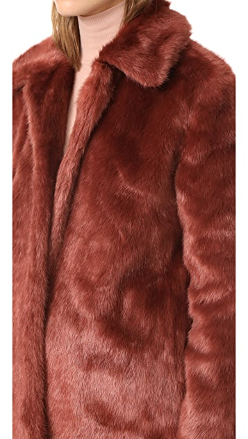FRAME Faux Fur Coat