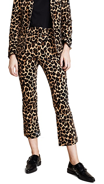 FRAME Cheetah Flare Trousers
