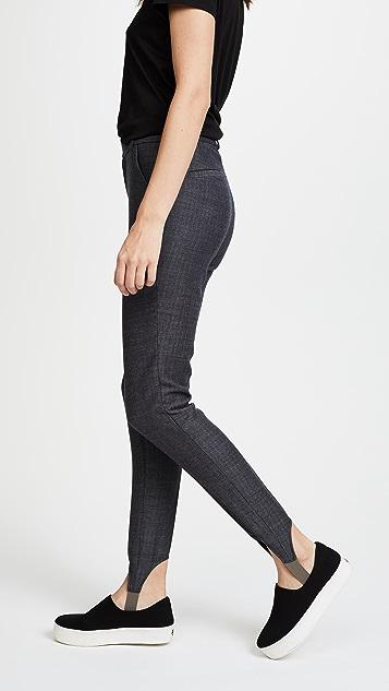 FRAME Herringbone Stirrup Pants