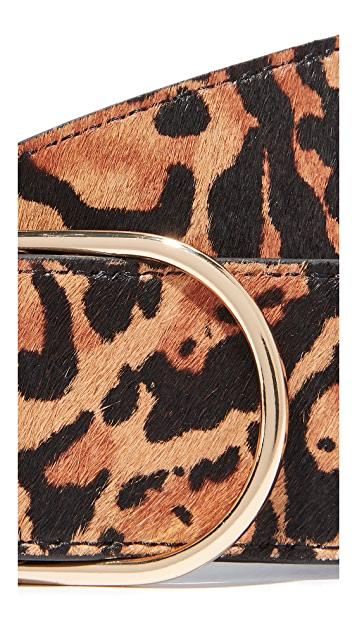 FRAME Oval Cheetah Belt