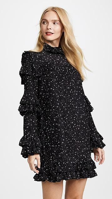 FRAME Diamond Ruffle Dress
