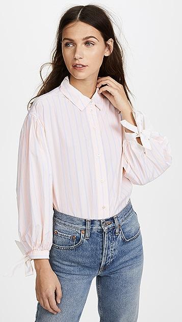 FRAME Tie Cuff Shirt | SHOPBOP
