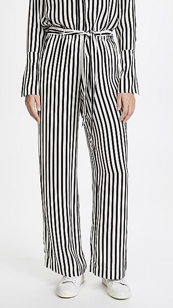 FRAME Easy Stripe Pants - Noir Multi