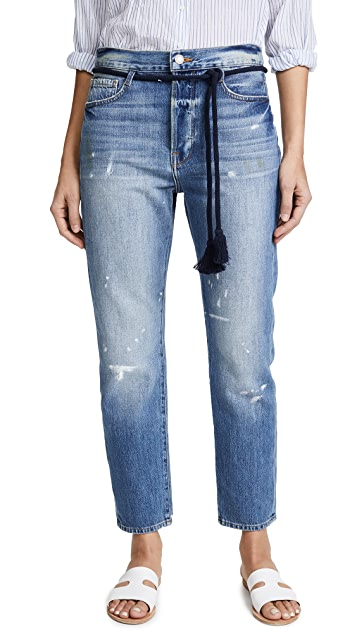 FRAME Le Original Jeans with Tassel Tie